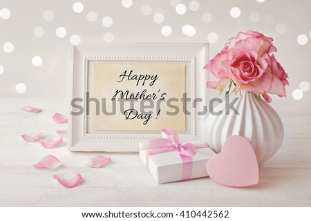 happy mothers day frame background #410442562