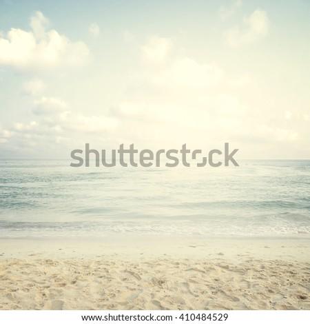 Vintage tropical beach in summer #410484529