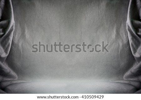 Backdrop crumpled fabric texture, cloth background.