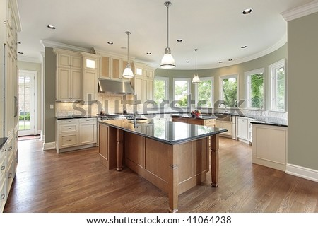 Kitchen with curved walls #41064238