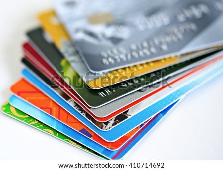 Credit cards Royalty-Free Stock Photo #410714692