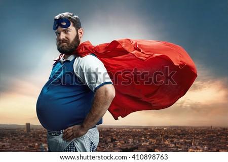 Funny portrait of hero #410898763