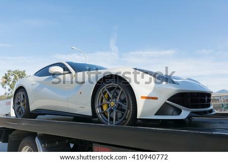 Pasadena, USA - April 24, 2016: Ferrari F12Berlinetta on display at the 9th Annual Concorso Ferrari event. #410940772