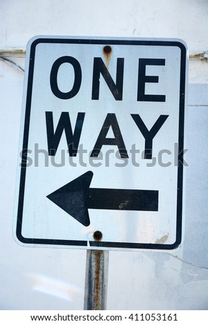 One way signs in Galveston, Texas