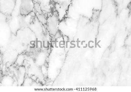 Abstract natural marble black and white(gray) patterned texture background of Thailand for background, interiors, skin tile luxurious and design. Picture high resolution. #411125968