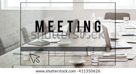 Meeting Discussion Conference Brainstorming Summit Concept #411350626