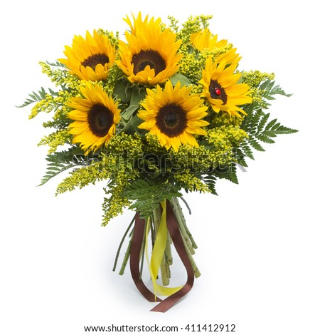 Bouquet of sunflowers #411412912