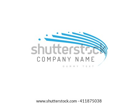 Abstract trandy curve of in swoosh stylise, vector and logo design #411875038