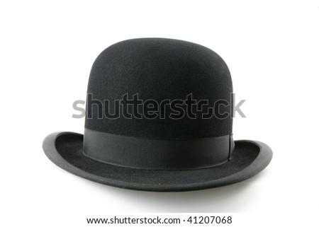 A stylish black bowler hat - isolated on white background #41207068