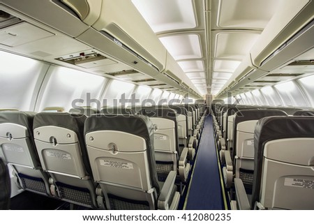 3.Empty aircraft cabin #412080235