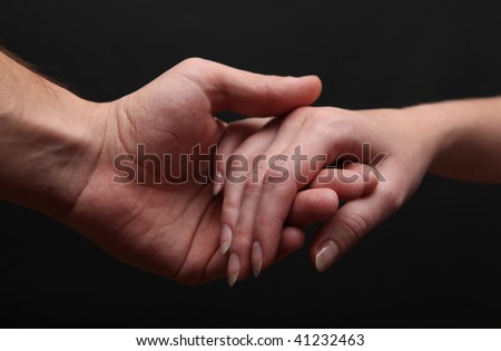 Man and woman hands #41232463