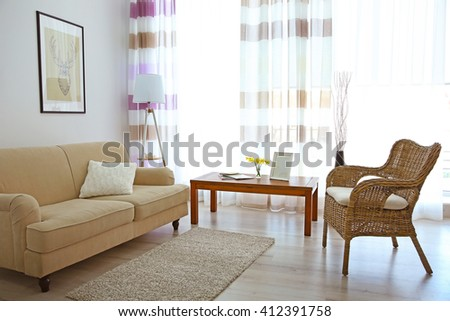 Modern living room interior. #412391758