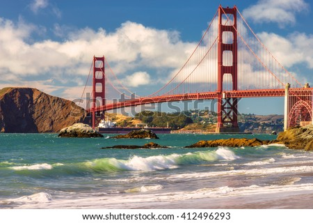 Golden Gate Bridge in San Francisco  #412496293