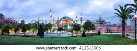Hagia Sophia Mosque in Istanbul. Panorama. #412513006