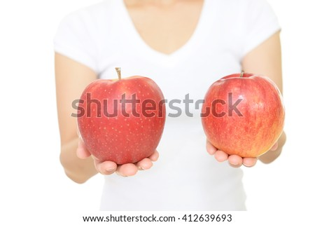 Woman with apples #412639693
