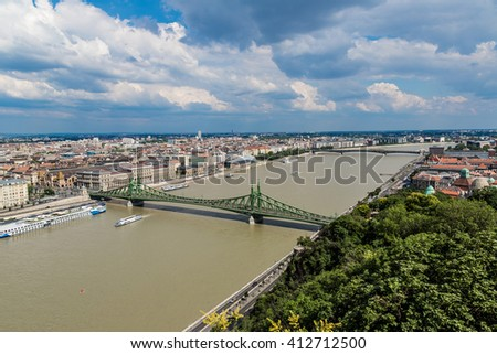 Liberty Bridge in Budapest in a summer day #412712500