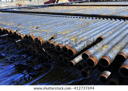 The pipe and valve oil fields  #412737694