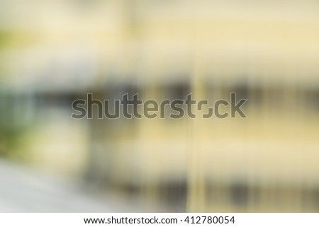 Abstract blurred background of building. #412780054