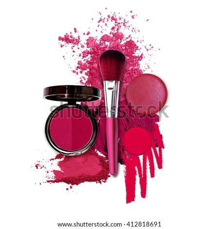 cosmetic pink fashion theme Royalty-Free Stock Photo #412818691