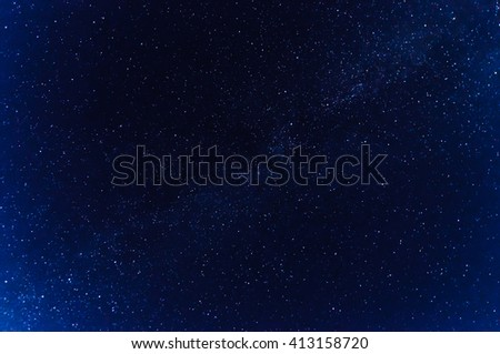 milky way on a blue starry night sky
