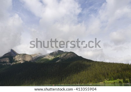 landscape of lake louise in Alberta Canada #413355904