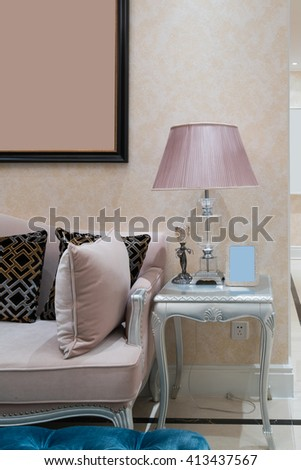 living room with nice decoration #413437567