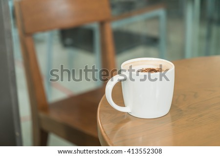 Coffee cup in coffee shop #413552308