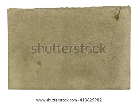 sheet of ancient paper on white, old paper texture. #413625982