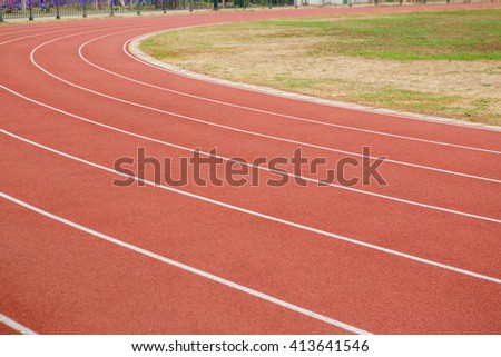 Running track in stadium #413641546