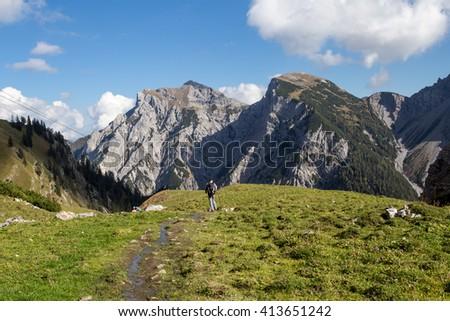 sonnjoch in the Karwendel mountain #413651242