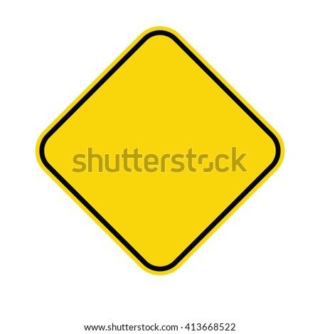Warning sign. Vector illustration #413668522