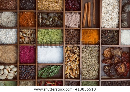 Box spices #413855518