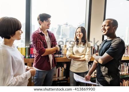 Classmate Classroom Sharing International Friend Concept #413869900