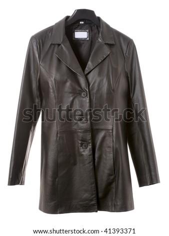 Black jacket isolated on the white background #41393371