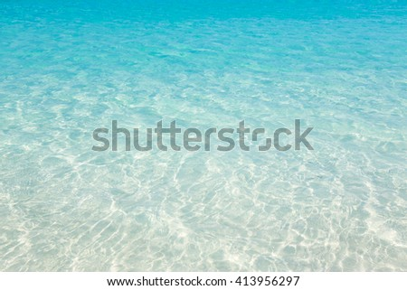 Tropical beach water background #413956297