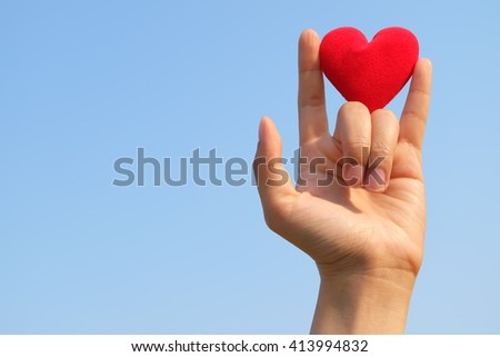 heart and hand #413994832