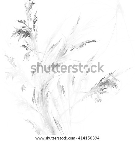 Floral background, digital image with pattern resembling tree branch and flowers, beautiful fractal texture for use as a design element #414150394