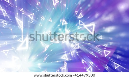 Abstract blue background. Explosion star. #414479500