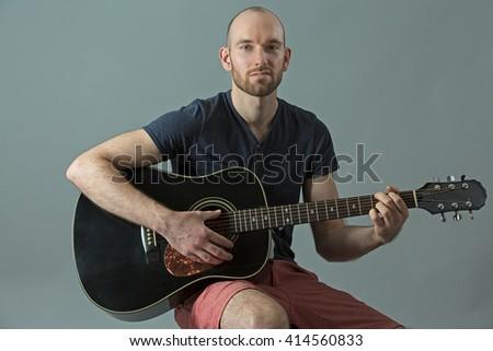 Guitarist man #414560833