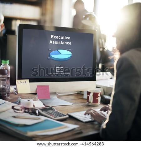 Executive Assistance Corporate Business Web Online Concept #414564283
