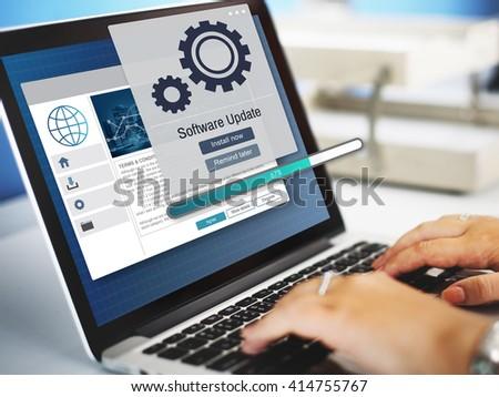 Software Update Installation Upgrade Data Concept #414755767