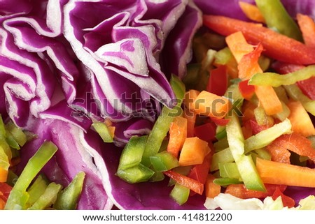 Mixed salad with seeds cut into julienne #414812200