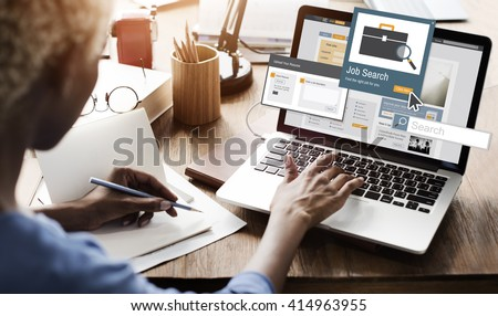 Job Search Career Recruitment Occupation Career Concept #414963955