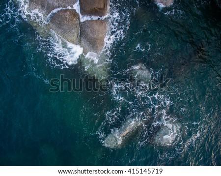 Sea rocks aerial view #415145719