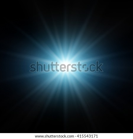 Star With Lens Flare #415543171
