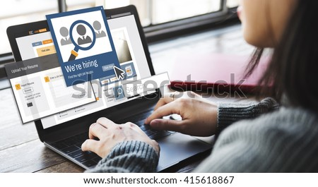 We Are Hiring Career Headhunting Job Occupation Concept Royalty-Free Stock Photo #415618867
