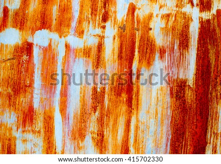 Background texture of Rusted steel #415702330