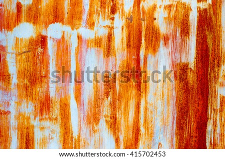 Background texture of Rusted steel #415702453