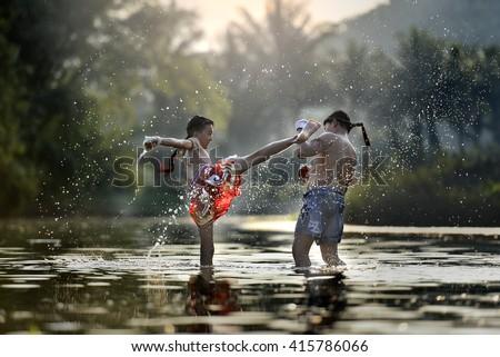 Muay thai Royalty-Free Stock Photo #415786066
