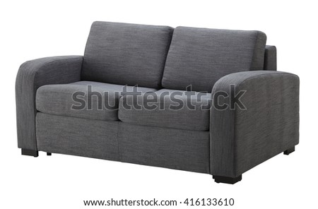 Grey sofa isolated on white include clipping path #416133610